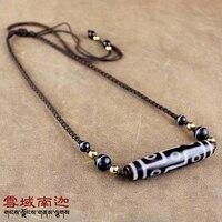 Tibet Natural Stone Dzi Beads Choker Necklace Nine Eyes Dzi For Men Women S Jewelry With