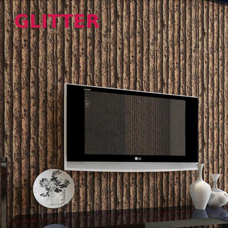 Fond De forêt salon papier peint Pvc 3d en relief bois foncé papier peint Papel De Parede Para Sala Esta 3d Nature fonds d'écran
