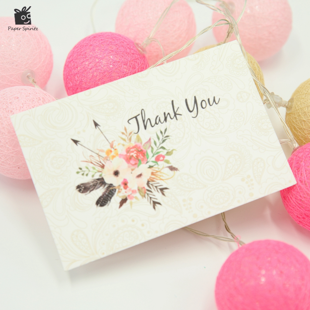 Thank You Card Assortment Pack Set of 10 Blank Inside 10 Designs Business gifts with 10 Matching Envelope 10x15 cm