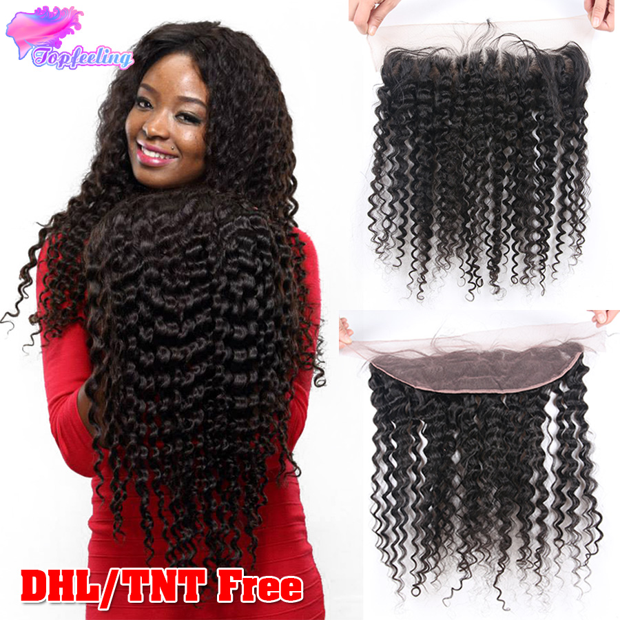 Brazilian Deep Wave Frontal 13x4 Human Hair Full Lace Frontals Closure Ear Closures - top feeling hair store