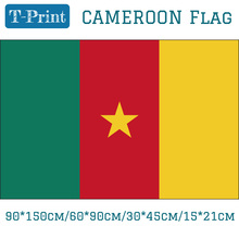 Free shipping Banner 3x5ft 90*150cm/60*90cm/15*21cm Cameroon National Flag 30*45cm Car Flag For Office World Cup national day cameroon gifts