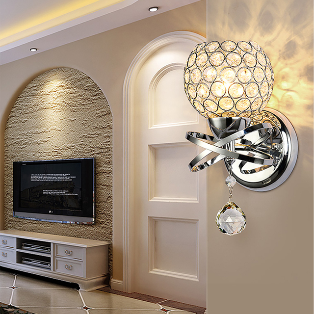 Postmodern K9 Crystal Droplet Sconce Wall Lamp Light