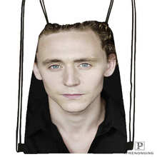 Custom Tom_Hiddleston_Cannes Drawstring Backpack Bag Cute Daypack Kids Satchel (Black Back) 31x40cm#180611-01-36