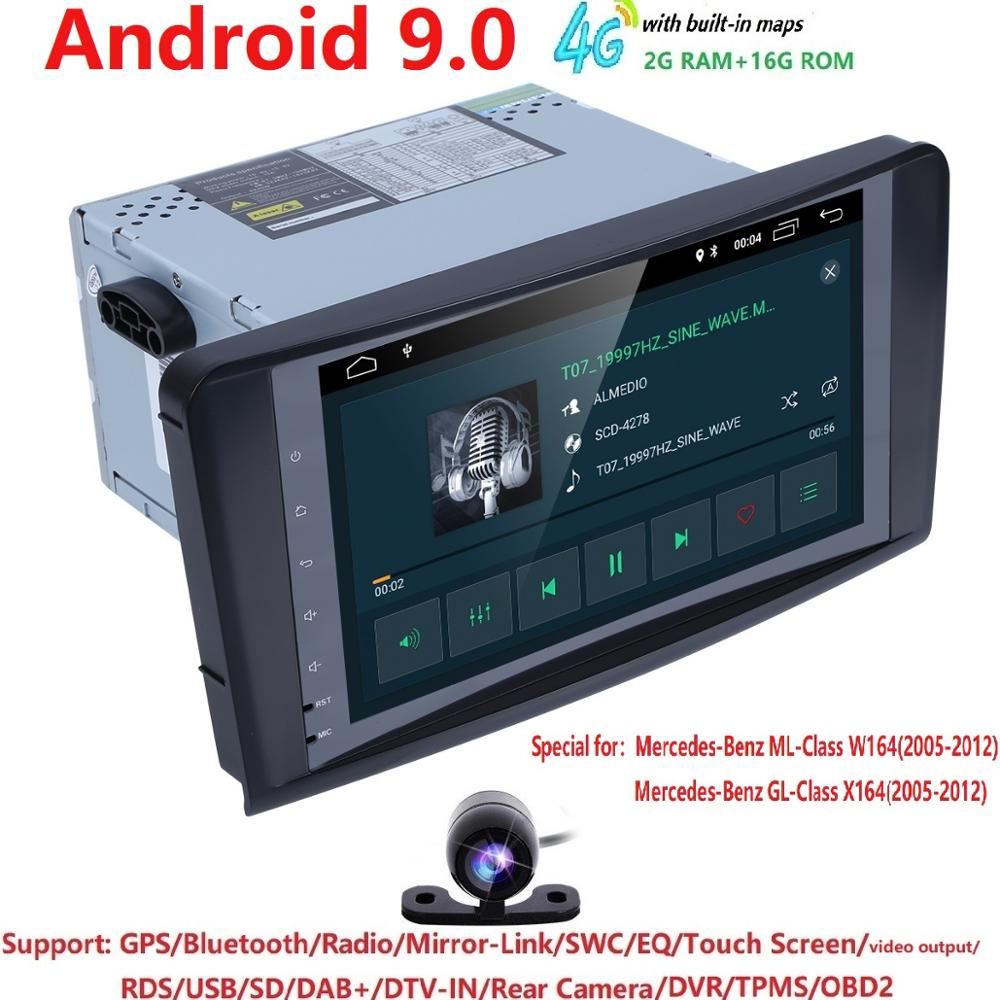 Android 9.0 Car Multimedia Player Car <font><b>Radio</b></font> GPS For <font><b>Mercedes</b></font>/Benz/GL <font><b>ML</b></font> CLASS <font><b>W164</b></font> ML350 ML450 ML500 GL320 Canbus Bluetooth wifi image