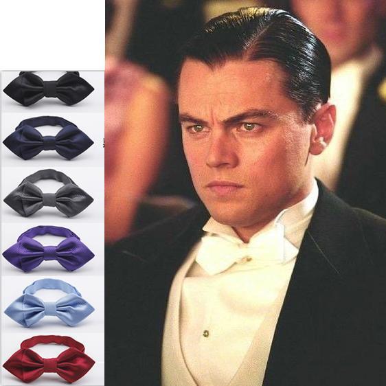 2017 solid color men's polyester bowtie neck tie