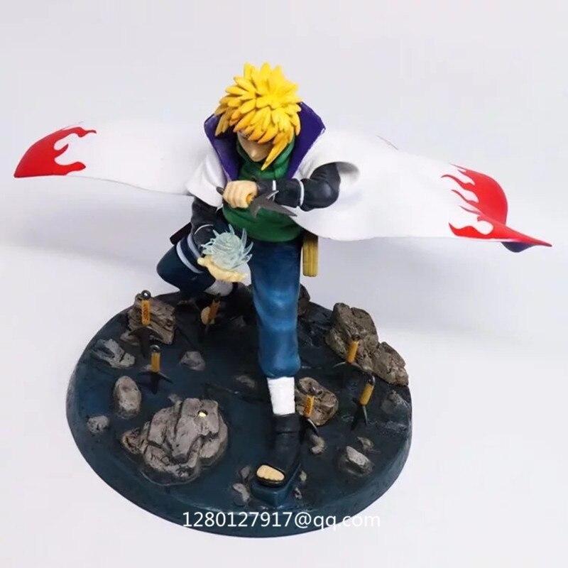 Anime Naruto Shippuden amikaze Minato Rasengan cuarto Hokage PVC figura de  acción modelo coleccionable juguete 22 CM caja Q261