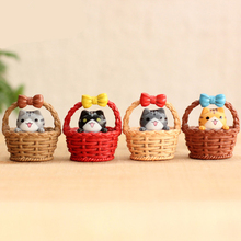 (4pcs/lot) Cheese cat miniature figurines toys cute lovely Model Kids Toys 3cm PVC japanese anime children figure world. PY058