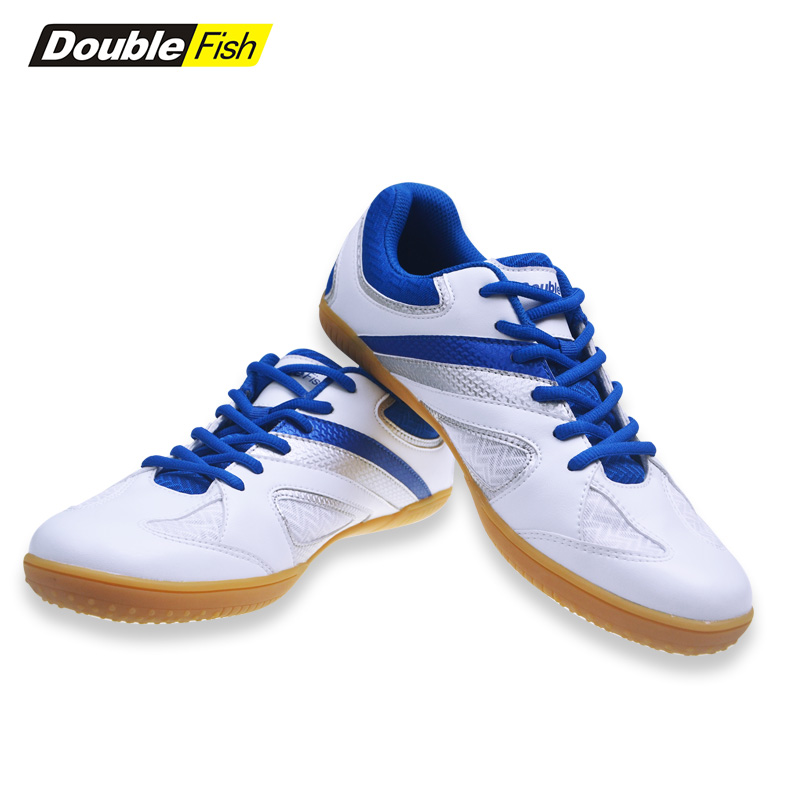 2018 New Double Fish Professional Men Women Non slip Breathable Table Tennis Badminton Shoes Outdoor Sports