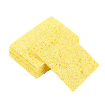 10 pcs High Temperature Enduring Condense Electric Welding Soldering Iron Cleaning Sponge Yellow Search image