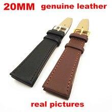 Новое поступление-Высокое качество 50 шт./партия 20 мм ремешок для наручных часов часы ремешок часы части черный и коричневый цвета-090706