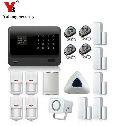Yobang Security 2.4G WiFi GPRS GSM Alarm Russian English French Spanish Swedish Dutch Voice prompt alarm system smart alarm