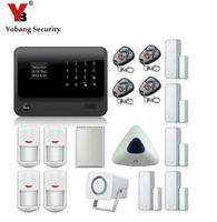 Yobang Sicherheit 2 4G WiFi GPRS GSM Alarm Russisch Englisch Französisch Spanisch Schwedisch Dutch sprachaufforderung alarmanlage smart alarm