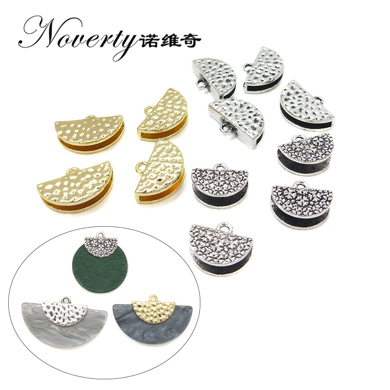 2018 New Fashion 10pieces 13mm Zinc Alloy Two Style Semicircle Connectors Charms for DIY Earrings Necklace Jewelry Accessories retro style zinc alloy owl earrings for women golden