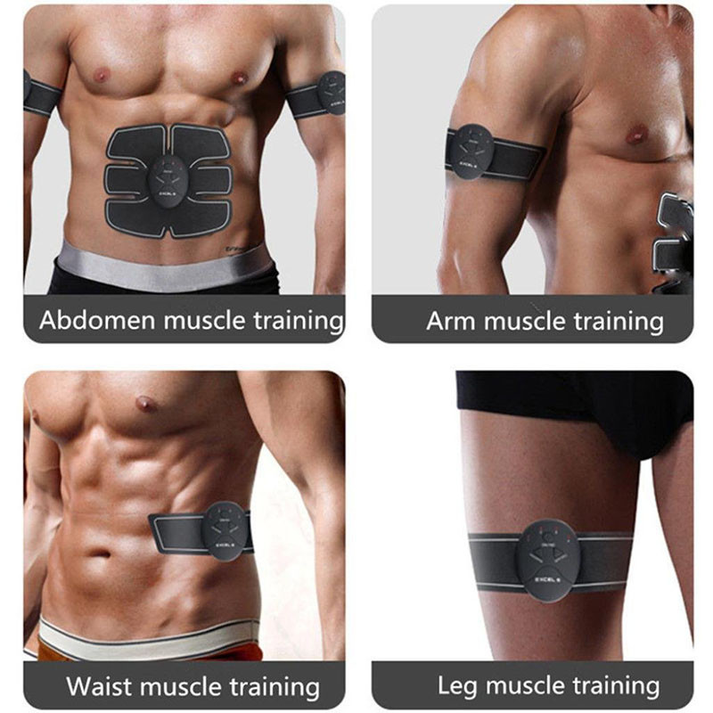 Abdominal Muscle Trainer Fitness Toner Belly Leg Arm Pad Exercise Ems Stimulation Training Muscle Stimulator Gear Body Massager Cool In Summer And Warm In Winter Ab Rollers
