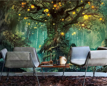 beibehang Custom size Beautiful dream forest classic silky 3d wallpaper tree living room TV background wall papers home decor