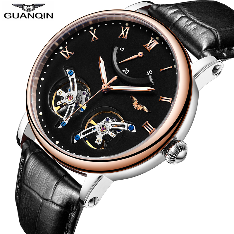 Double Tourbillon Watches Luxury Automatic Watch Men Leather Strap Energy Display Sapphire Waterproof Luminous Sport Watches menDouble Tourbillon Watches Luxury Automatic Watch Men Leather Strap Energy Display Sapphire Waterproof Luminous Sport Watches men