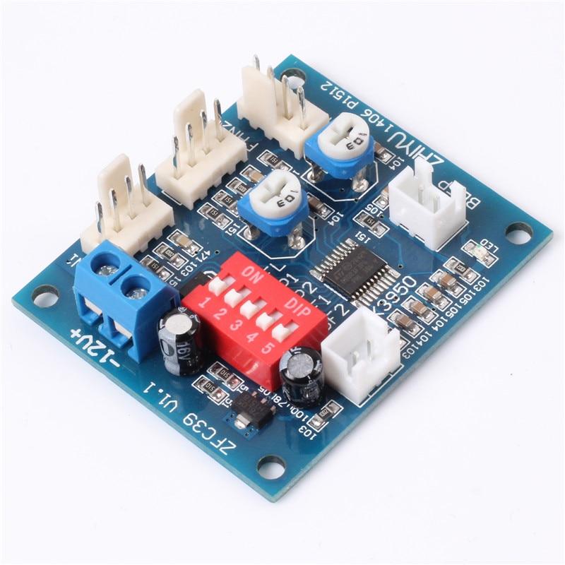 DC 12V Four-wire PWM PC CPU Fan Temperature Control Module Computer Fan Speed Controller Speed Regulator