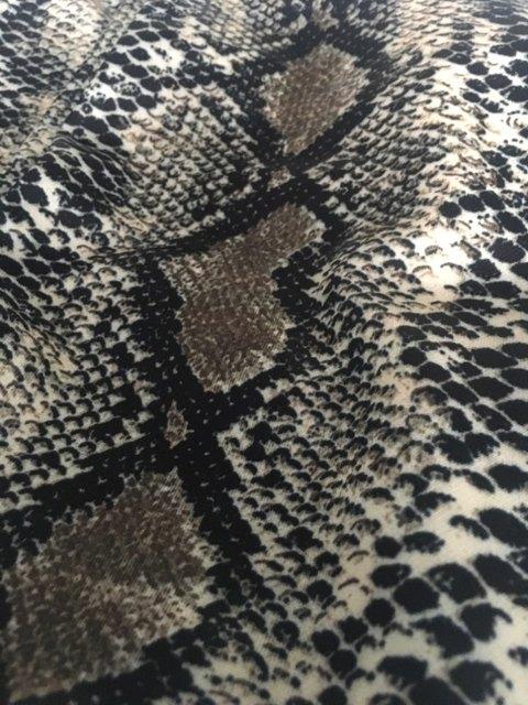 Snake Skin Print Wide Leg Fashion & Party Pant
