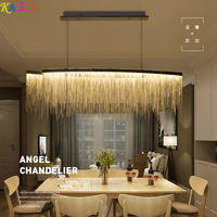 KAIT Modern Bedroom chandeliers ceiling Dining Room Hanging chain LED chandelier lighting living room