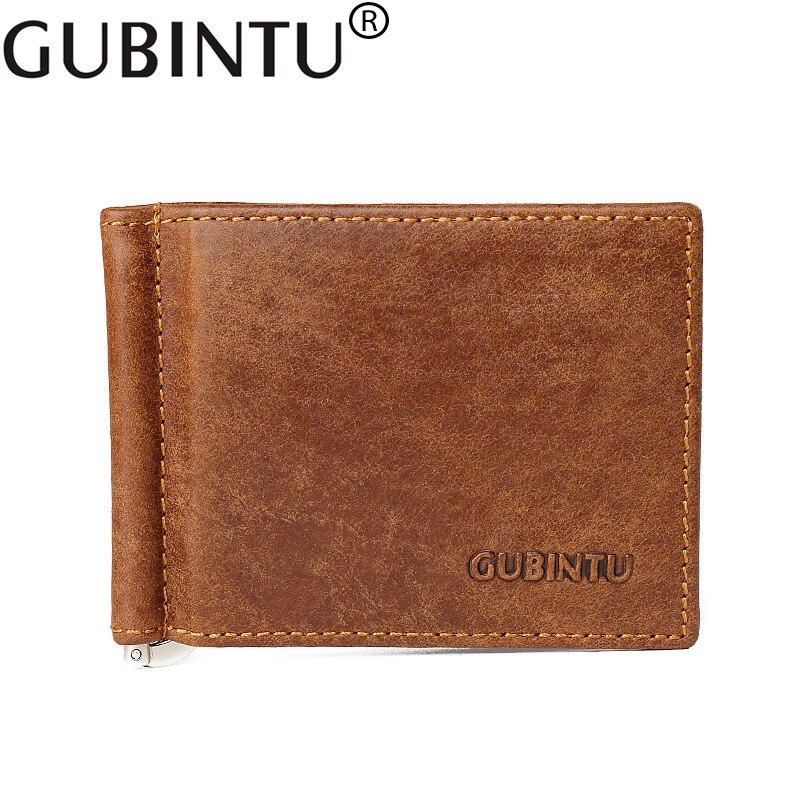 Fashion Men Small Slim Wallet Male Genuine Leather Business Card Holder Carteras Clamp For Money Portomonee Kashelek Mini Purses fashion business men