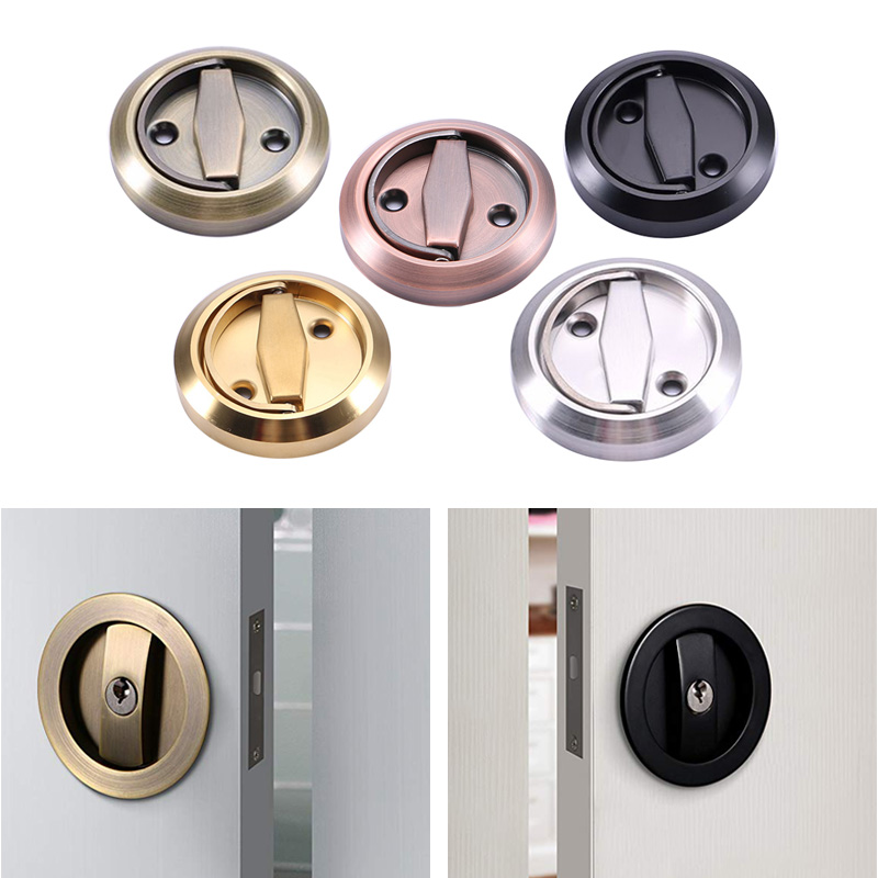 Invisible Door Gate Cup Handle Lock Round Pull Ring Stainless Steel Hardware CLH@8 pivot ring cervical tractor pull up seven generations adopts stainless stainless steel drawing rack