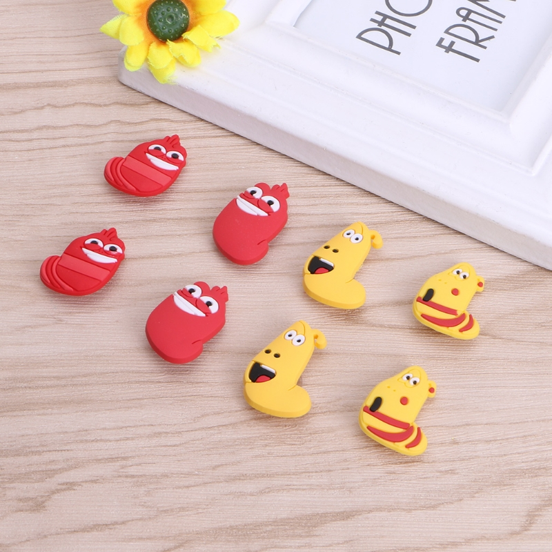 New 8Pcs/Lot Shoe Clip Kids Cute Lovely Shoes Decoration PVC Gifts Shoe Accessories 180 days warranty lt35lp original bare lamp with housing for lt35 projectors