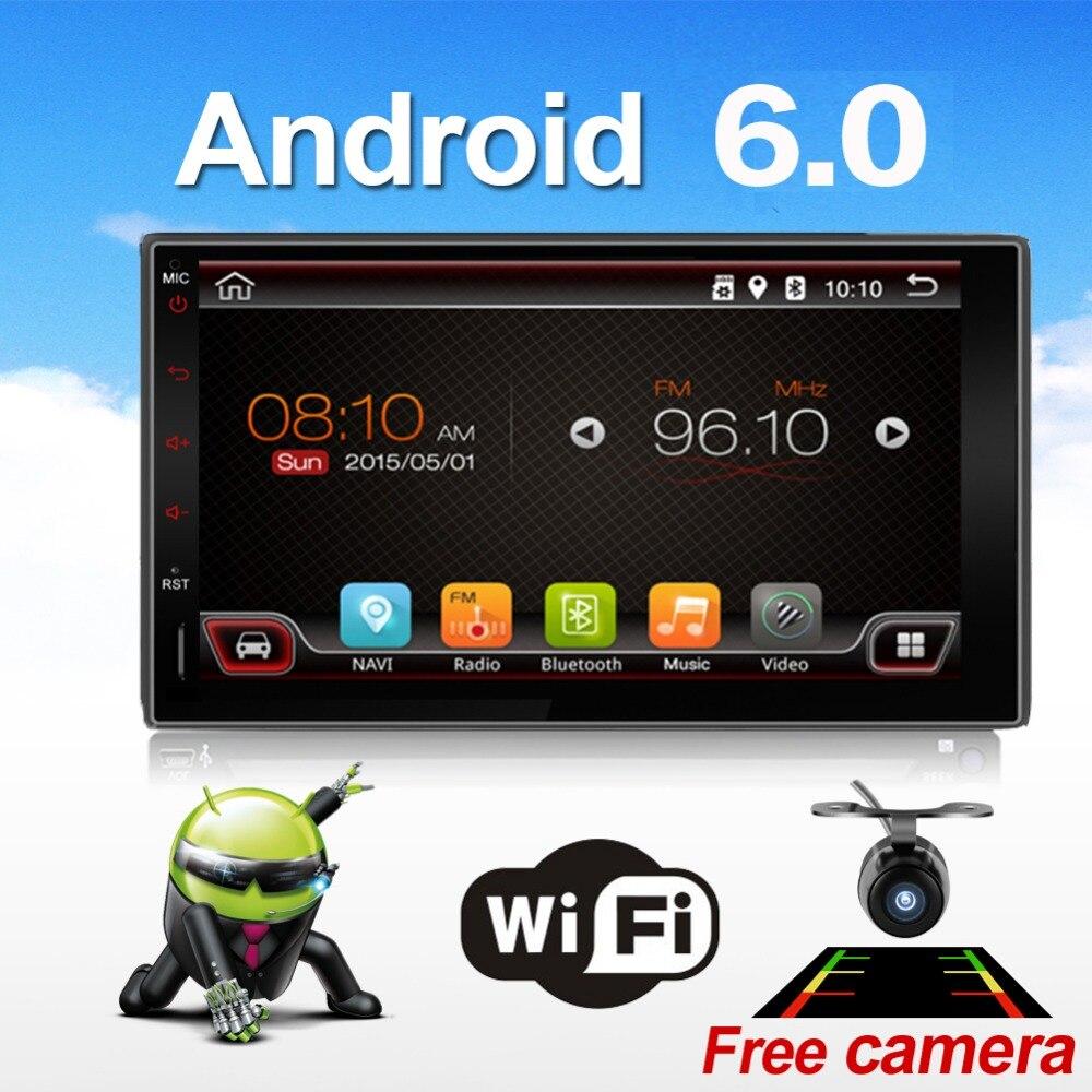 Универсальный 2 DIN Android 6.0 сенсорный автомобилей планшетных ПК Двойной аудио 7 GPS NAVI Стерео Радио no dvd mp3 плеер bt стерео 4