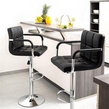 2 шт. поворотный барный стул современный регулируемый по высоте стул барный стул с подставкой для ног барный стул с подлокотниками HWC