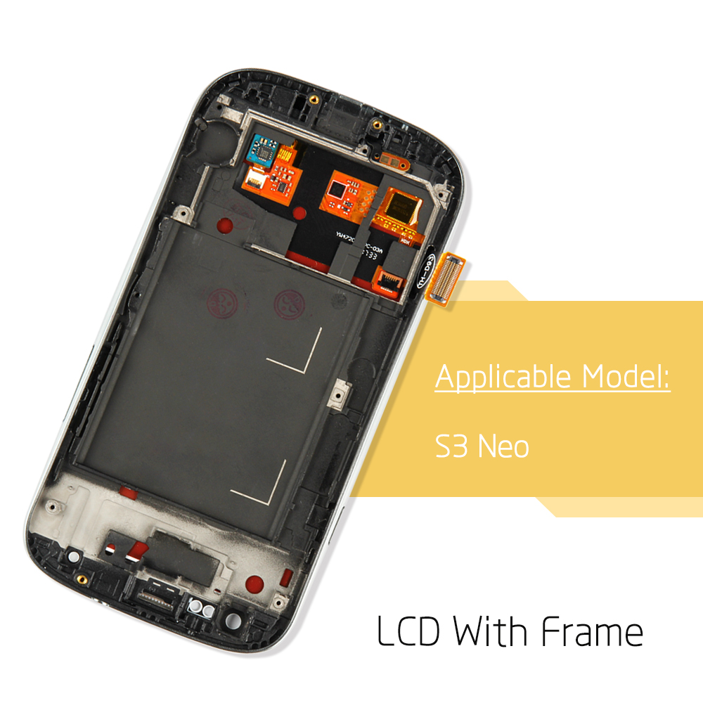 100% AMOLED Display LCD Touch Screen Digitizer per Samsung Galaxy S3 Neo i9300i i9301 i9301i i9308i di Ricambio Del Telefono