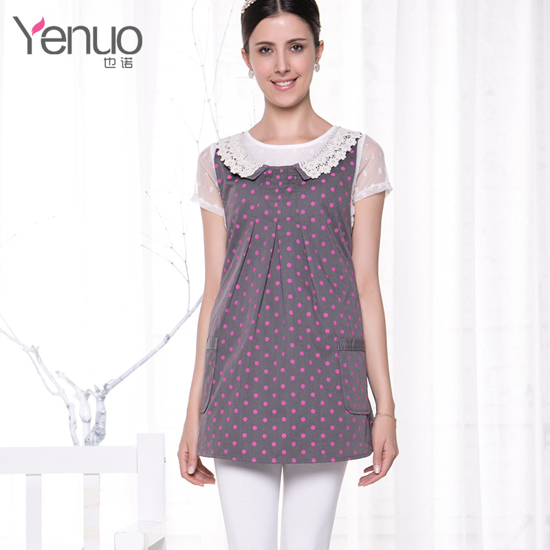 Anti radiation clothing for pregnant women, pregnant women with metal fiber and lace collar