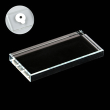 Rectangle-shaped Eyelash Glue Glass Holder False Stand Extension Crystal Pallet Accessories
