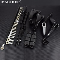 Black Forward Controls Complete Kit Pegs & Levers & Linkages For Harley Sportster XL 883 1200 04 07 08 2009 2010 2011 2012 2013