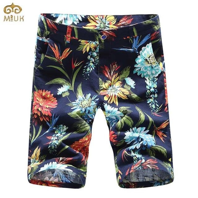 Korte Broek Wit Heren.Miuk Large Heren Bloemen Shorts Merk 2017 Casual Man Shorts Zomer