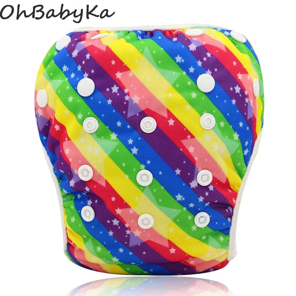 Ohbabyka Baby Swim Diapers 2016 Brand Cloth Diaper Swimwear Reusable Baby Swim Suit for Boys or Girls Swimwear Swimming Trunks