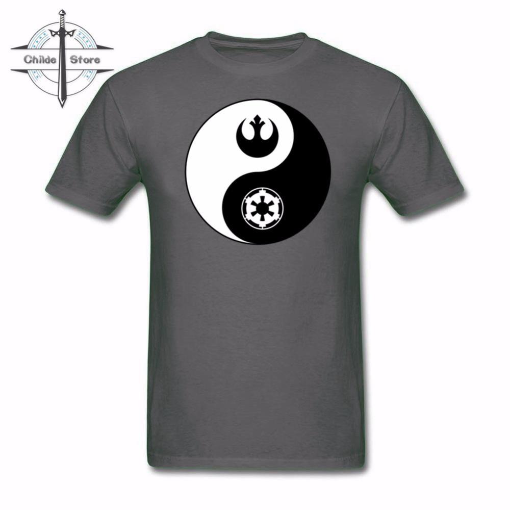 Модные летние брендовые футболки Для мужчин топы Китайский Тай-Чи Rebel и империи Инь Ян печатных футболка Для мужчин удобные хлопок футболка