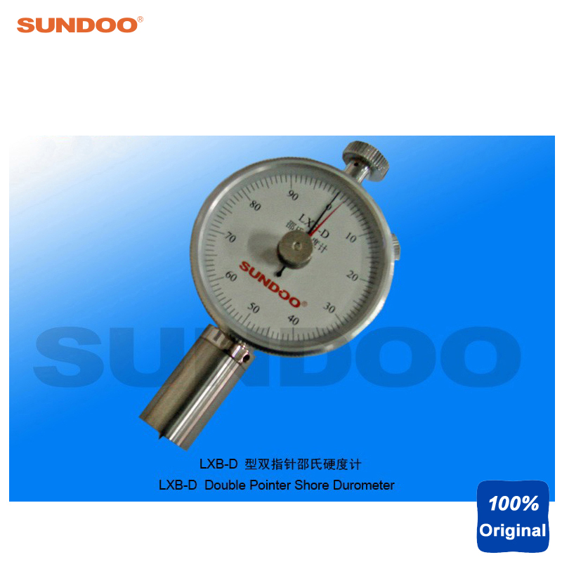 Sundoo LXB-D Handheld Double Analog Pointer Rubber Plastic Shore Durometer цена