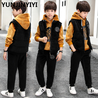 YUNJINYIYI Children's Clothes For The Boy Sports Suit For Boy Three piece Suit autumn and winter Boys Clothes kids clothes