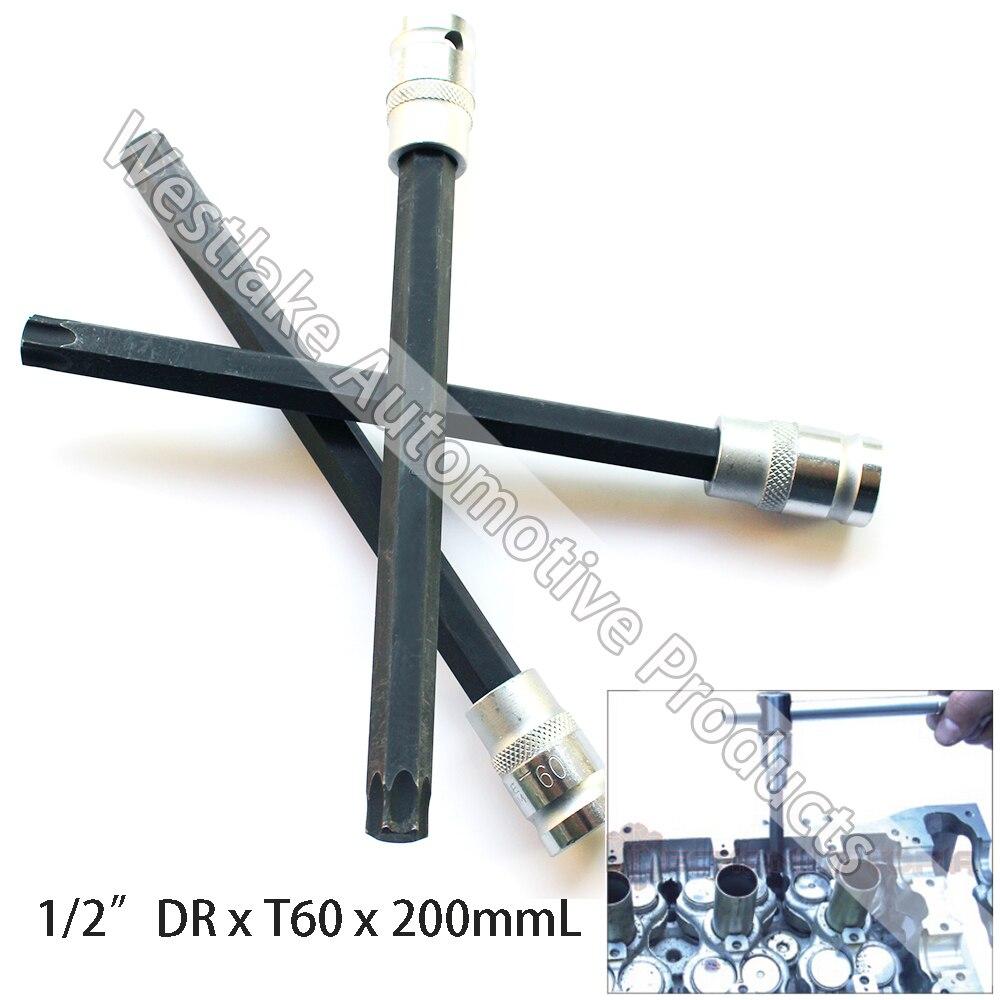 """Original T60 Buchse 1/2 """"stick Torx Stern Extra Lange 200mm Zylinderkopf Bolt Sockel Für Bmw (manipulationssichere) Offensichtlicher Effekt"""
