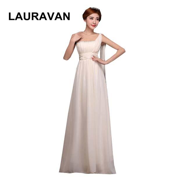 Robe De Mariage Champagne Blue Wine Red Purple Chiffon Vestido Long One Shoulder Bridesmaid Beautiful Bridemaids Party Dresses