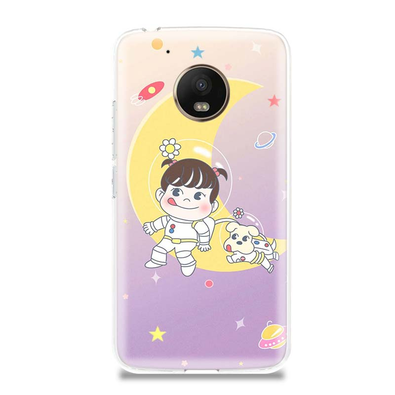 Peko Milky Girls Exotic Funny Silicone Patterned Case for Motorola G5 G5S G6 E4 E5 G7 Plus for Moto G4 E5 Play Customized Cases in Half wrapped Cases from Cellphones Telecommunications