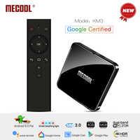 MECOOL KM3 Android 9.0 TV Box 4GB DDR4 RAM 64GB ROM Google Certified Android TV Box USB 3.0 Set Top TV Box 4K Media Player