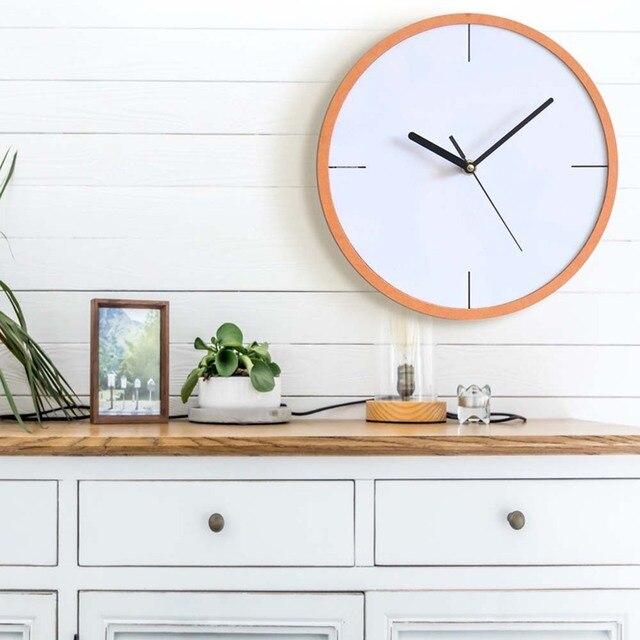 Europe And The United States Creative Minimalist Wall Clock Bedroom Mute Fashion Retro