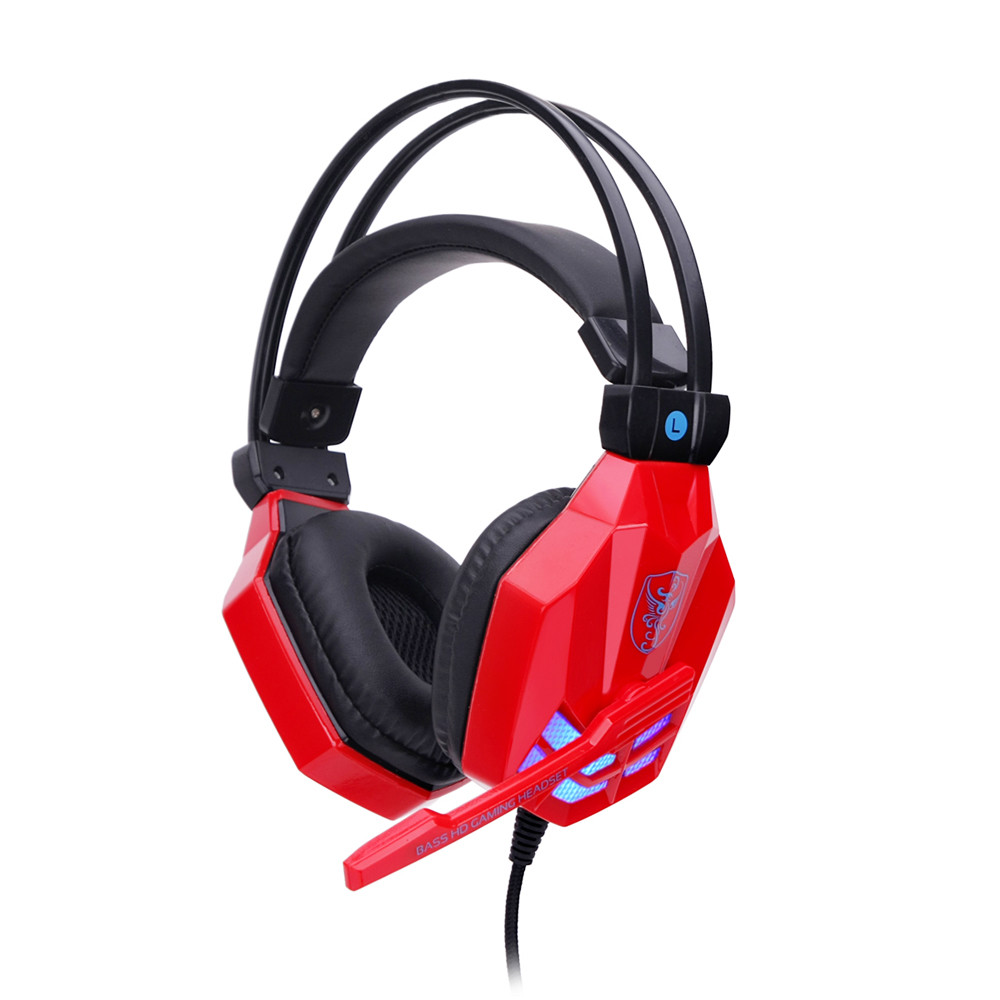 Headphones Surround Stereo Gaming Headset Headband Headphone USB 3.5mm LED with Mic for PC Noise Canceling Headphone @tw