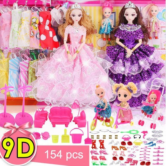 9d True Eye Bjd Diy Baby Doll American Girl Doll Clothes Princess