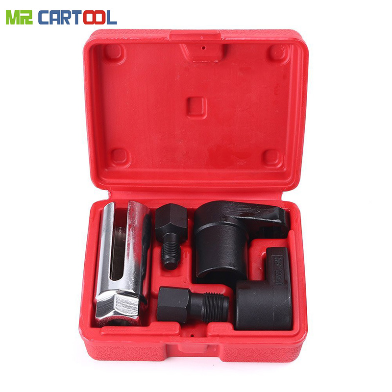 5pcs oxygen sensor wrench Kit Thread Chaser Tool Fit for All Auto O2 Socket Removal Install Offset Vacuum Oxygen Sensor Socket цены