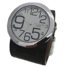 Модные высококачественные женские брендовые большие часы 8 цветов с кожаным ремешком, военные кварцевые наручные часы с круглым циферблатом для женщин и мужчин, горячая распродажа