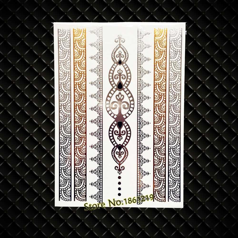 ac44b1566 ... Fashion Women's Henna Tattoo Gold Silver GYS-77 Bracelet Jewelry Design  New Water Transfer Golden ...
