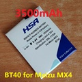 3500 mah bt40 batería del teléfono móvil para el teléfono meizu mx4 mx 4 m460 m461