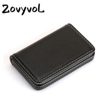 ZOVYVOL 2019 PU Leather Fashion Card Case Business Credit Holder Magnet Name Large Capacity Classic Box