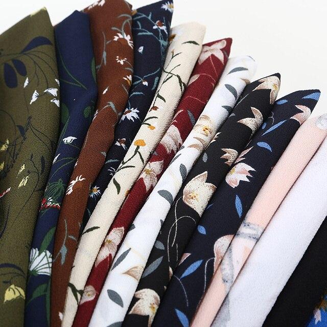 女性プリント花柄スカーフバブルシフォンスカーフショールヒジャーブイスラム教ファッションロングラップヘッドバンド 28 色スカーフ 180*73 センチメートル